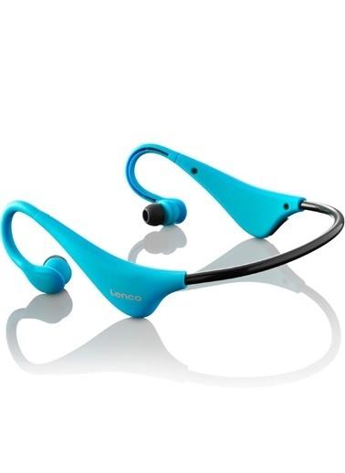 Lenco BH-100 Ense Tipi Kablosuz Bluetooth Headset Kulaklık Mavi Mavi